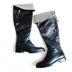 Cole Haan Chatham Over The Knee Foldover Boots